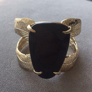 Kendra Scott Black and Gold Bracelet